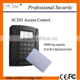 Standalone access control with free SDK sc203 time attendance with RFID card reader TCP/IP door lock                                                                                                         Supplier's Choice