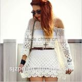 ladies crochet hollow beach cover ups , crochet Bohemia beach dress