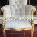 Antique Gold Furniture - Italian Wooden Arm Chair Living Room Sofa - Restaurant Furniture