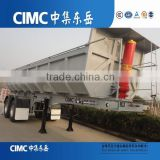 2015 China CIMC U shape 3 axles 50ton hydraulic rear lifting tipping tractor Trailer for sale