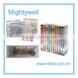 Promotional plastic 48 pcs color gel pen sets (12pcs/pack 4pack/set)                                                                         Quality Choice