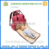 High quality pink handle bed diaper bag nylon