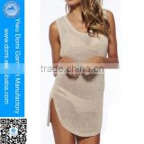 Breathable sunscreen mesh knit rayon wholesale crochet beach dresses