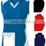 Sublimated Colorful Uniform Team Wear Top Custom Volleyball Jersey Without Sleeve Sleeveless
