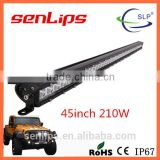 Special model 210W single row Epistar led light bar 45inch light bar for truck camping lighting
