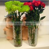 New Arrival crystal glass flowers vases for wedding(R-1474