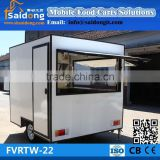 CE approval manufacturer design electric hot dog ice cream trailer-food cooking truck for sale