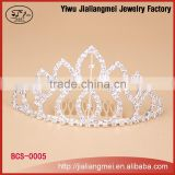 Fashion tall pageant crown tiara bridal rhinestone crystal headdress crown pageant tiara