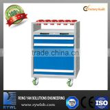 CNC cutting tools chest trolley cart with wheels and 3 drawer