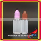 trade assurance PE medicine 10ml eye dropper e liquid plastic bottle 15ml pe bottle e liquid with drip tip for E cigs GR345R