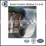 Grinding helical gear machine for cane sugar mill parts