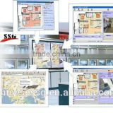 pstn/gsm/ip alarm home security monitoring center with video monitoring integrated system