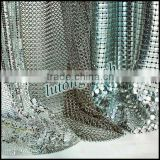 2014 modern design silver metallic mesh fabric/factory supplying