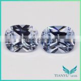 Wholesale loose gemstones 8x10mm sea blue color 104# cushion shape spinel gemstone semi precious stone