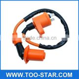 Orange Color High Performance Scooter Ignition Coil For GY6 50cc 150cc motorcycle