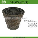 Bamboo waste baskets antique style
