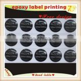 Custom clear Epoxy dome sticker label printing/custom transparent PVC LOGO epoxy resin sticker printing