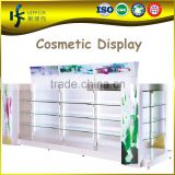 adjustable shelf cosmetic display rack with daylight lamp