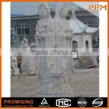 On sale cheap well polished beautiful hand carved Chinese natural stone standing Buddhism godness GuanYin Buddha sculptu