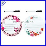 2013 hot selling cheap oval shaped mini no frame white board