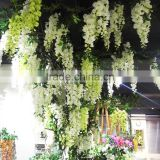 fabric wholesale silk cloth flower for home and wedding decoration artificial wisteria flowers