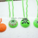 Halloween symbol led necklace plastic beads led necklaces glowing necklace jewelry with custom logo for promotion gifts