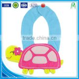 Wholesale alibaba applique cotton custom soft animal wholesale dental baby bibs necklace