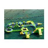 Custom Inflatable Pvc Water Parks / Water Floating Playground