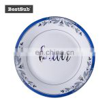 "China factory direclty supply Sublimation 8"" Rim Plate w/ Blue Flower P8H-09"