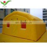 Waterproof yellow house air tight inflatable tent large inflatable outdoor winter advertising