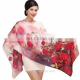 12mm / 175cm longth warm fashion designer silk scarf