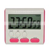 LCD Digital Kitchen Timer Count Down Up Cooking Alarm with Clock
