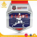 Factory Price Soft Enamel Karate Championship Medal With Ribbon