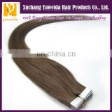 High quality tape in hair extensions remy skin weft alibaba in spanish