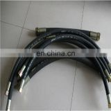 Hydraulic End Fitting and Pilot-Brake-Hydraulic, Synthetic Rubber Hydraulic Hose Assembly, 400 bar Max Pressure