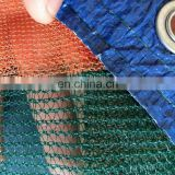 hot sale virgin hdpe material mesh netting dark green olive collecting net with orange edges