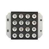 Vandal proof and waterproof stainless steel metal keypad