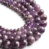Wholesale Amethyst smooth semi precious round beads 8mm round gemstone beads stone round beads