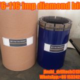 T6-116 impregnated diamond core drill bits, exploration drilling bit, rock coring, geotechnical drilling bits