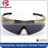 Super light disposable military safety eyewear custom TR90 frames tactical bulletproof shooting glasses
