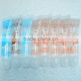 16mm Elegant small soft PE tube of cosmetic packaging transparent plastic lipgloss tbe cosmetic lip balm tube