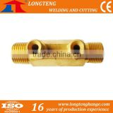 Cutting Machine Accessory with Short Pipe Tee Joint Copper Screw Pipeline for Brass Fitting