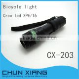 Super bright led bicycle light police zoom LED flashlight