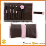 professional leather makeup roll up bag, high quality custom makeup brush roll up pouch, best quality wholesales makeup holder