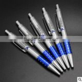 Press the plastic ballpoint pen wholesale imitation metal pen oil penmade of high-grade silver spray oil pen