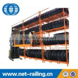 Stack truck tyre storage rack for warehouse