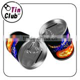 round saving money tin boxes