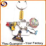 New design ECUADOR country map keychain keyring key chain ring                                                                         Quality Choice