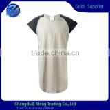 Color Combination Super Short Raglan Sleeve T-shirt                                                                         Quality Choice