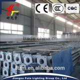 Conical shaped factory price 3-15 meter steel lighting pole with single or double arms or panel bracket & 25-year warranty